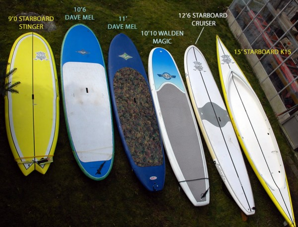 2011 Paddle Surf Canada SUP Quiver
