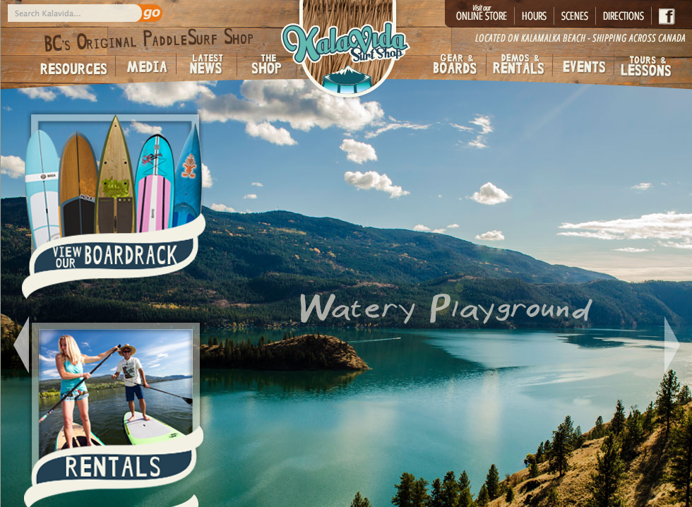 Kalavida Surf Shop gets a new website