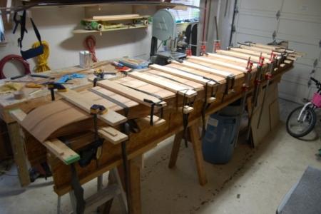 Cedar strip skinning