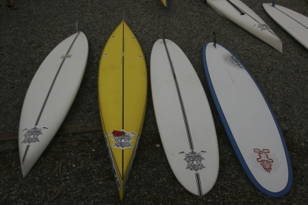Starboards on the beach