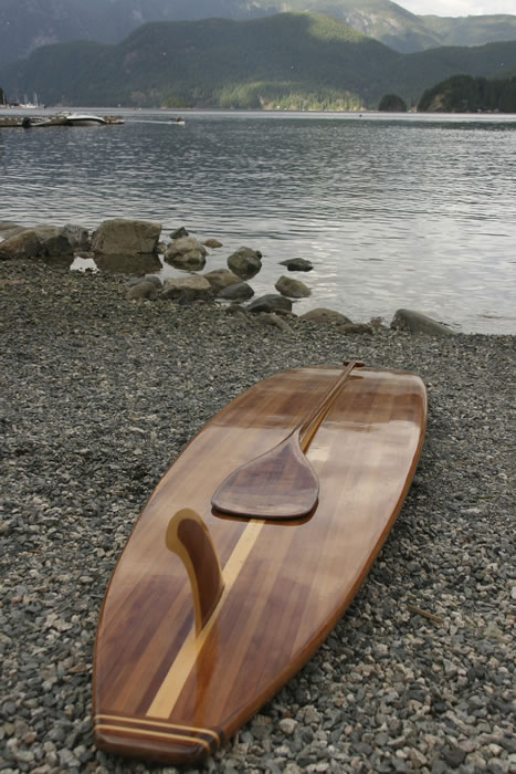 Kelvin Humenny's 12'0 handcrafted SUP and paddle